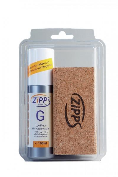 ZIPPS SET BASIC G/100 ml, mit Kork mit Filz