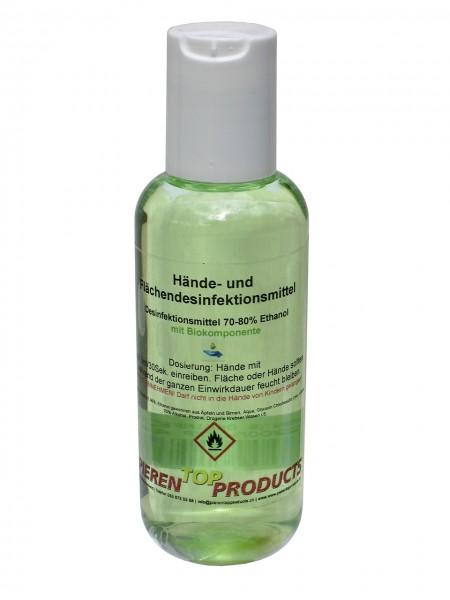 Désinfectant pour mains et surfaces avec composants biologiques