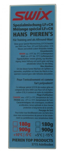 Hans Pieren's SWIX mélange spécial LF+CH, WARM, prix net